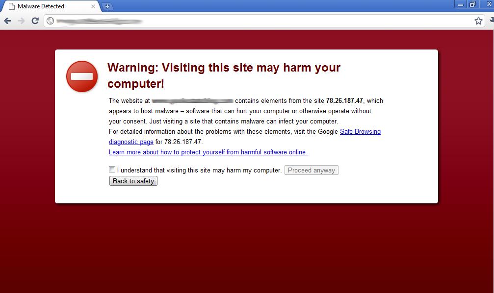 wordpress hacké google