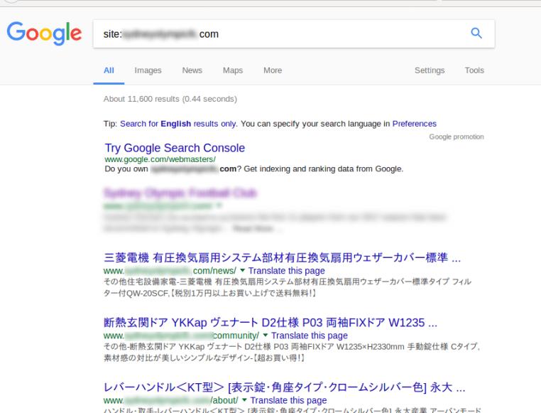 résultats de recherche site piraté